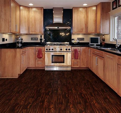 vinyl flooring cabinets dark brown wooden allure vinyl plank flooring matched with white wall plus mocca wooden kitchen