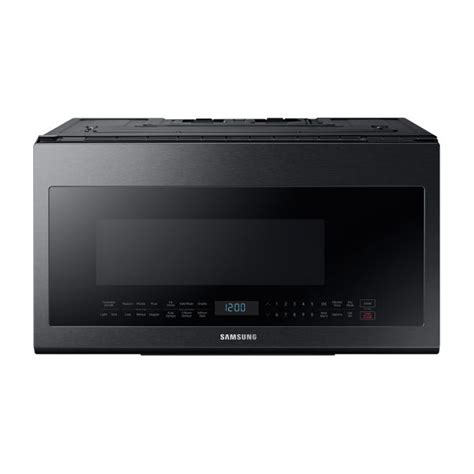 samsung microhood  black stainless steel appliance oasis