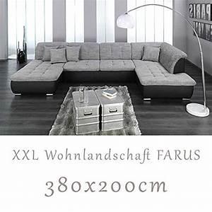 Wohnlandschaft U Form Xxl : wohnlandschaft couchgarnitur xxl sofa u form schwarz ~ Pilothousefishingboats.com Haus und Dekorationen
