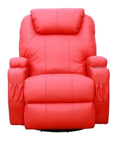 reclining sectional sofa with massage and heat foxhunter bonded leather sofa massage recliner chair