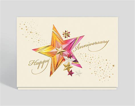sparkling stars anniversary card  business
