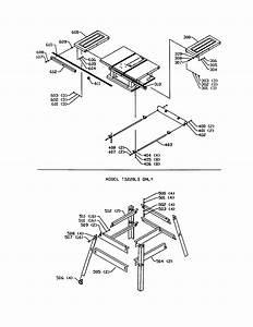Extension Wing  Stand Diagram  U0026 Parts List For Model Ts220ls Delta