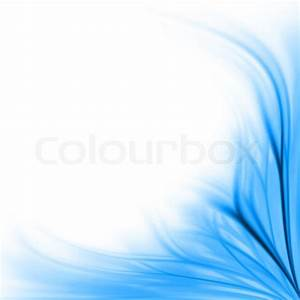 Beautiful fresh blue floral border background isolated on