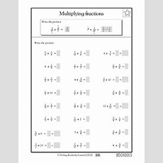 5th Grade Math Worksheets Multiplying Fractions Greatschools