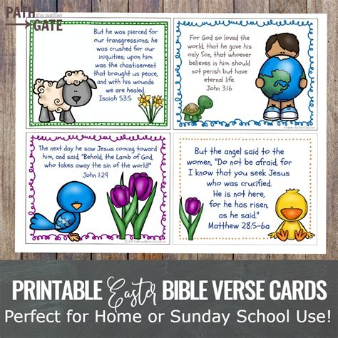 easter bible verse cards set path through the narrow gate 109 | Easter Verse Cards fea
