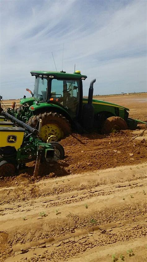 cotton planters deere 8235r with 1705 cotton planter stuck in mud
