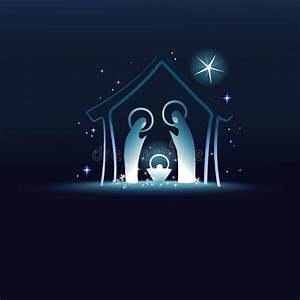 Nativity Scene With Holy Family Stock Vector - Image: 62089051