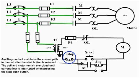 jogging control circuit jog motor control start stop