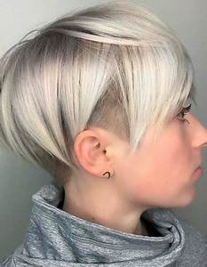 Simple Short Hairstyles Trends For 2018 With Silver Color