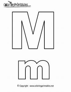 Alphabet Letter M Coloring Page - A Free English Coloring ...