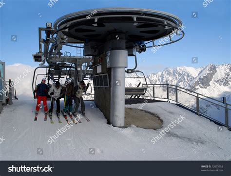 kasprowy mountain ski resort chair lift in a valley of