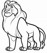 Coloring Lions Pages sketch template