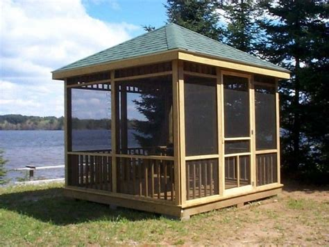 building screened gazebo screened gazebo plans