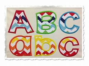 Applique embroidery fonts