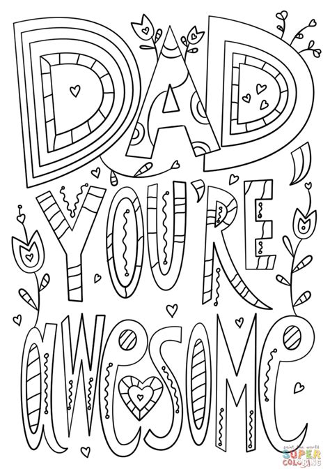 dad youre awesome coloring page  printable coloring