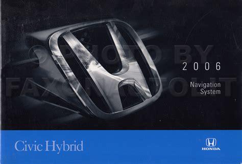buy car manuals 1997 honda civic navigation system 2006 honda civic hybrid navigation system owners manual original