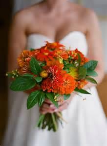 Sunflower and Zinnia Wedding Bouquet