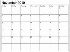 November 2019 Printable Calendar year printable calendar