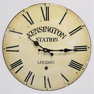 Vintage Wanduhr Groß Holz Metall : vintage wanduhr kensignton station london metall uhr r mische zahl antik design ~ Bigdaddyawards.com Haus und Dekorationen