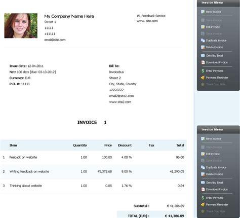 personal invoice template invoice