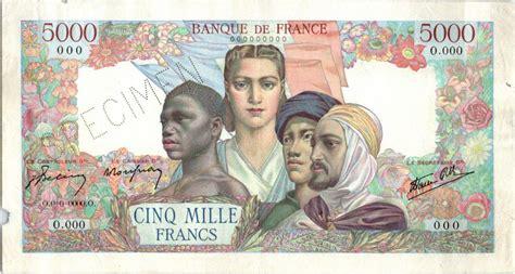 El 10 por ciento de 5.000 unidades es 500. Billet France 5000 Francs Empire Français - Spécimen 00-0-0000