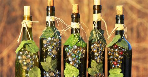 crafts with wine bottles wine bottle recycle craft project art craft projects
