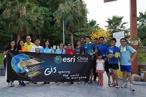 Dr  Winnie Tang  Middle In Red  With Runners And Walkers From Esri China  Hk