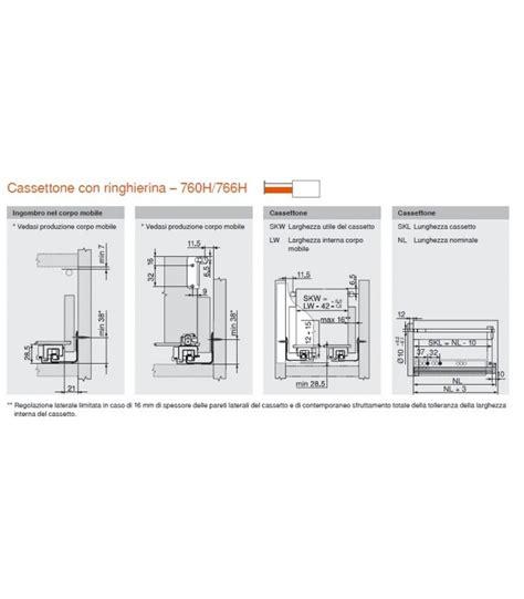 Guide Per Cassetti Blum by Coppia Guida Cassetto Legno Blum Movento Con Blumotion