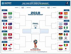 2018 Official World Cup Russia Bracket Printable World