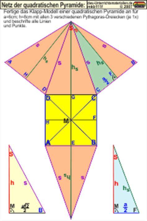 mkb netz der quadratischen pyramide