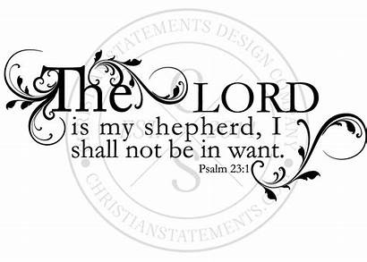 Psalm Lord Shepherd Coloring Bible Wall 23rd
