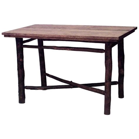 american rustic  hickory dining table  sale  stdibs