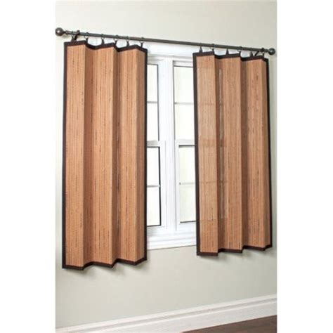 versailles home fashions bamboo ring top curtain single