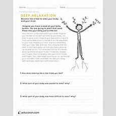 Mindfulness Deep Relaxation  Worksheet Educationcom