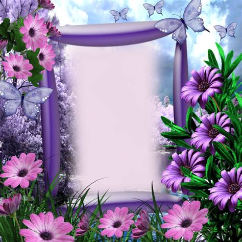 purple note card flower prints framed borders