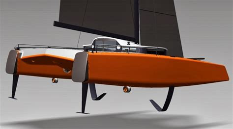 Gunboat G4 Catamaran Capsize by G4 Foiler Racer Cruiser Catamaran Racing News Design