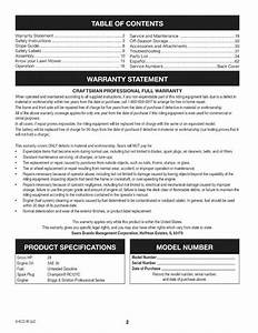 Craftsman Pgt9000 User Manual