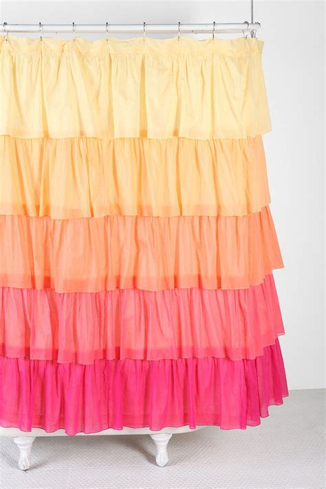 ombre ruffle shower curtain urban outfitters