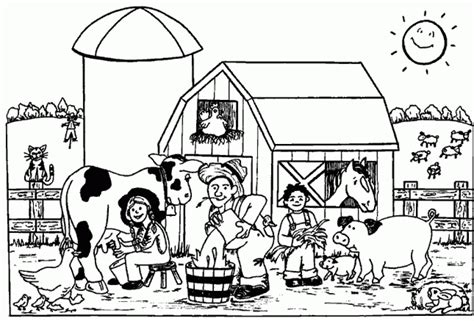 farm animal coloring page coloring home