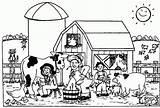 Coloring Farm sketch template