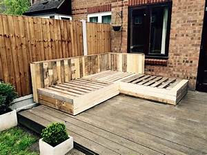 DIY Pallet Corner Sofa Pallet Ideas: Recycled / Upcycled