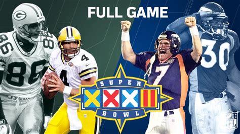 Super Bowl Xxxii Elways 1st Super Bowl Win Green Bay