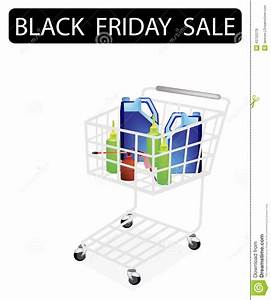 Engine Oil Packaging In Black Friday Shopping Cart Stock ...