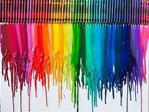 Creative ideas: crayon melting art designs | art ideas crafts
