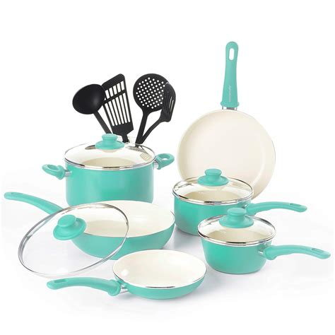 cookware ceramic greenlife nonstick sets cooking grip pans pots piece amazon soft dishwasher safe affordable toxin absolutely buying guide money