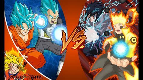 goku vegeta  naruto sasuke  rap battle extended