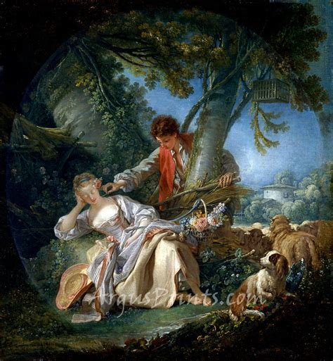 the interrupted sleep 1750 canvas print by francois boucher