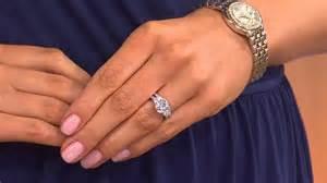 wedding rings 100 epiphany diamonique 2 95 ct tw 100 facet 2 pc bridal ring set with alberti popaj