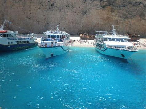 Big Blue Boat Zante by Probably The Most Spectacular In The World Navagio