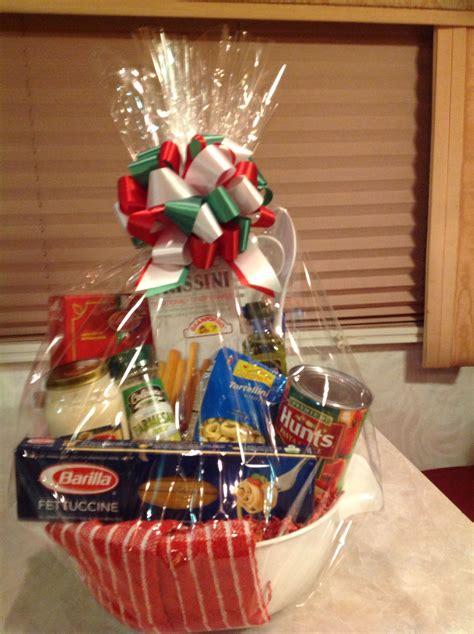 spaghetti dinner dinner gift basket dollar tree gifts